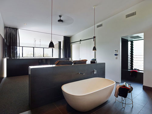 Inspiratie van slaapkamer badkamer combinatie  Slaapkamer ideeën