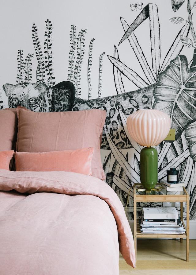 jungle-illustratie-behang-slaapkamer
