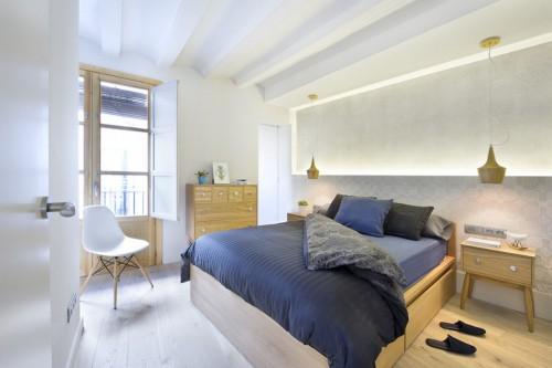 ... Slaapkamer Hout : Karakteristieke Barcelona slaapkamer Slaapkamer