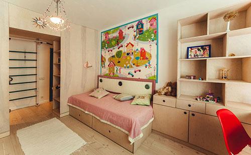 Kinderkamer met symmetrische indeling slaapkamer idee n - Kleine kinderkamer ...