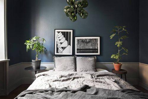 Klassiek chique Scandinavische slaapkamer  Slaapkamer ideeën