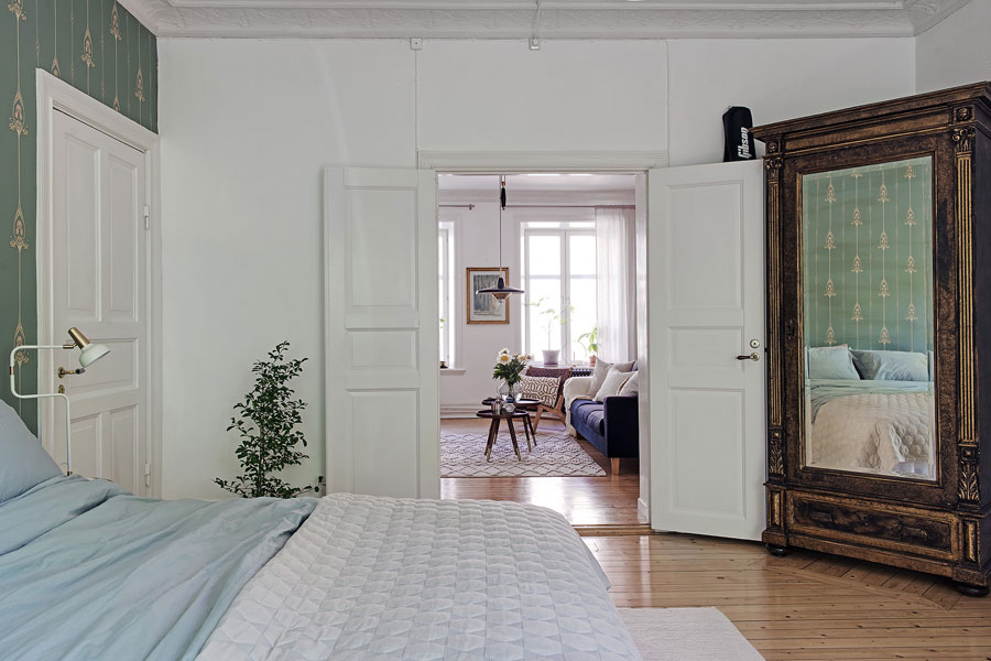 Klassieke slaapkamer met hangmat