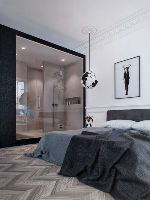 Klassieke slaapkamer met modern tintje  Slaapkamer ideeën