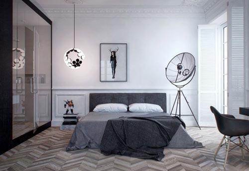 klassieke slaapkamer met modern tintje | slaapkamer ideeën, Deco ideeën