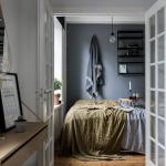 Kleine slaapkamer inrichting van een jaren '30 appartement