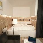 Kleine slaapkamer van klein appartement