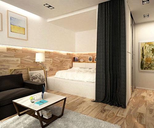 kleine slaapkamer van klein appartement | slaapkamer ideeën, Deco ideeën