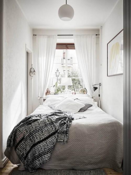 Kleine slaapkamer met kleine kledingkast  Slaapkamer ideeën