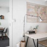 Kleine slaapkamer thuiskantoor combinatie