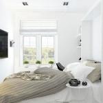 Kleine smalle slaapkamer