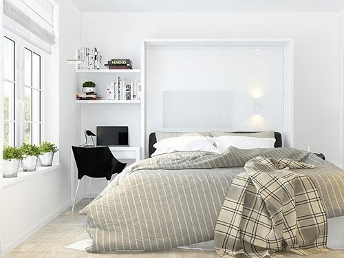 kleine smalle slaapkamer | slaapkamer ideeën, Deco ideeën