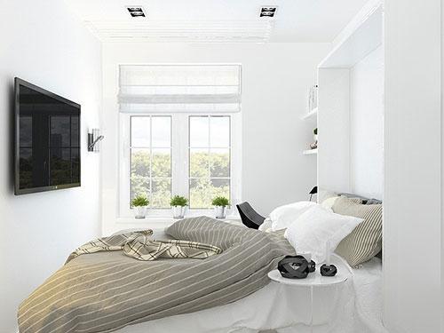 Hoe Een Kleine Keuken Inrichten : Kleine smalle slaapkamer Slaapkamer idee?n