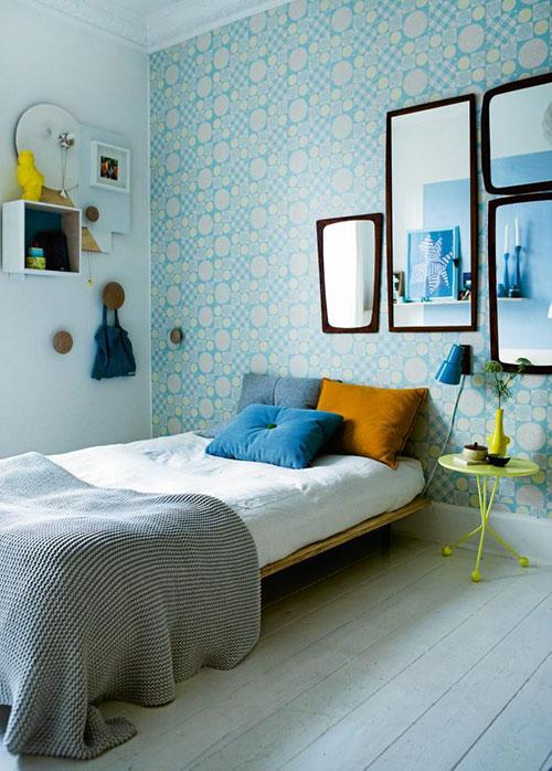 Kleurrijke scandinavische slaapkamer slaapkamer idee n - Scandinavische blauwe ...