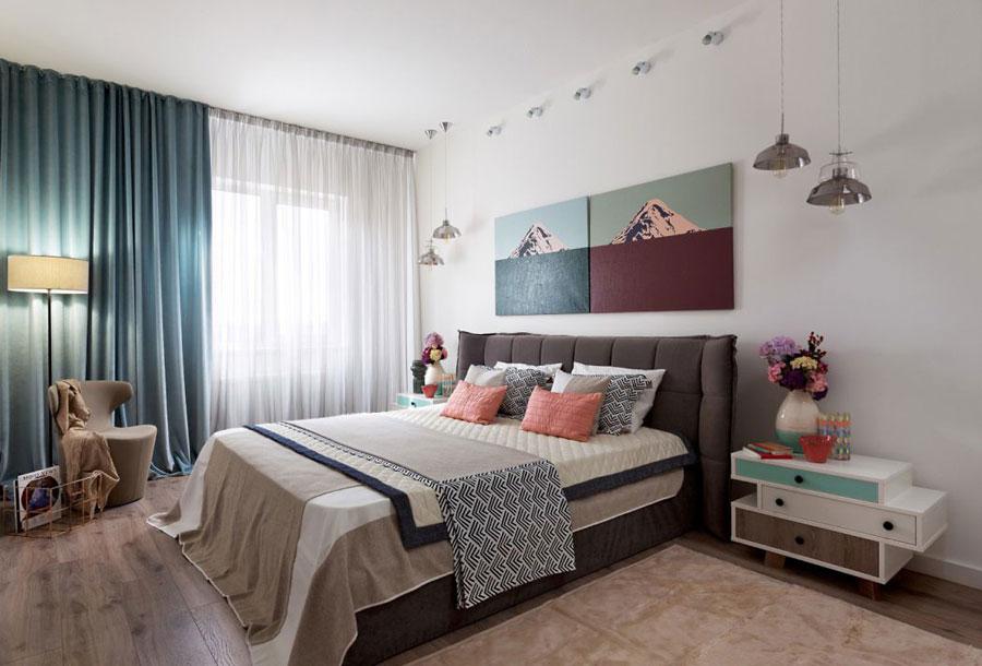 Kleurrijke slaapkamer door Fateeva Design