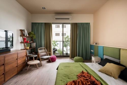 Leuke Slaapkamer Kleuren : Rijke kleuren in een grote slaapkamer ...
