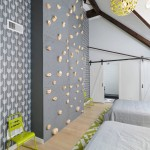 Een klimmuur in de slaapkamer