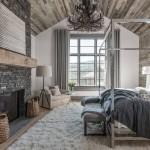 Knusse rustieke slaapkamer van Amerikaanse chalet