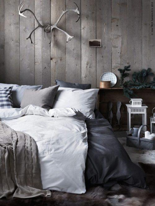Knusse winter slaapkamer