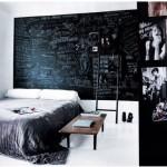 Krijtbord in slaapkamer