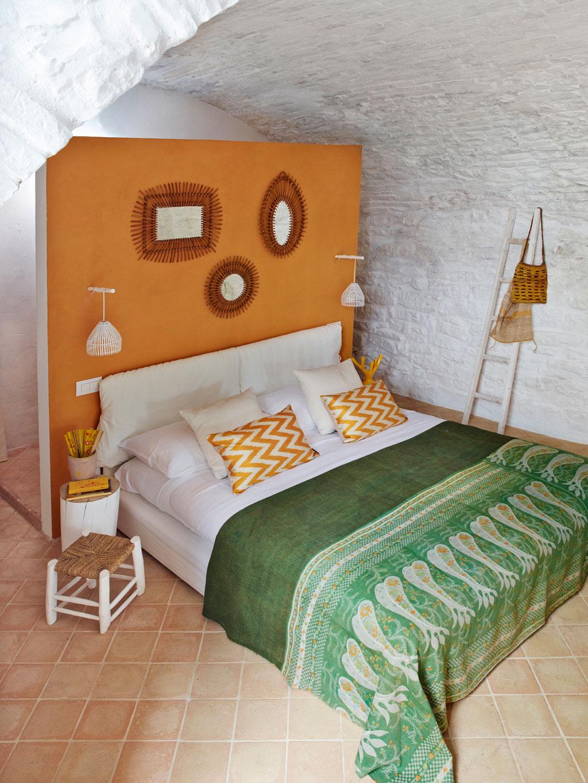 Landelijke Italiaanse slaapkamer uit Umbria