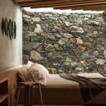 Landelijke rustieke slaapkamer van beachside cottage