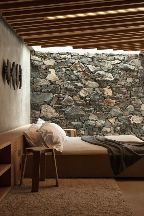 Landelijke rustieke slaapkamer van beachside cottage  Slaapkamer ...