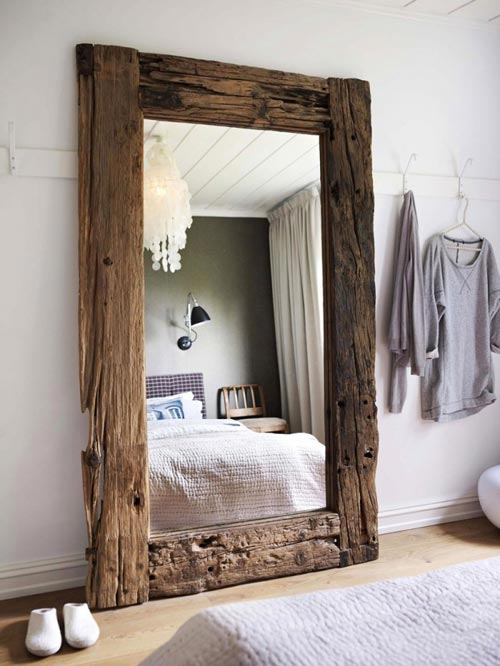 landelijke rustieke slaapkamer uit noorwegen