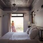 Landelijke slaapkamer van een western woning