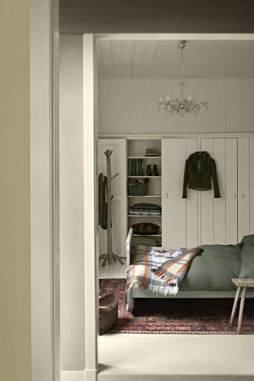 Landelijke slaapkamer kleuren