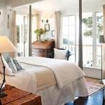 Landelijke slaapkamer van vakantiehuisje in Nieuw Zeeland
