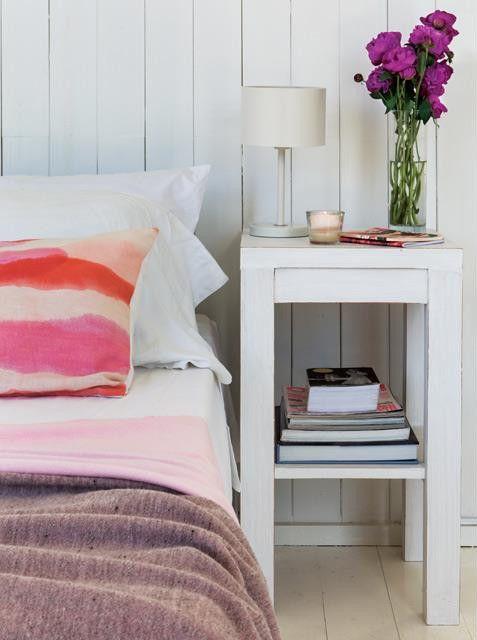 Landelijke slaapkamer van een Uruguayaans strandhuis