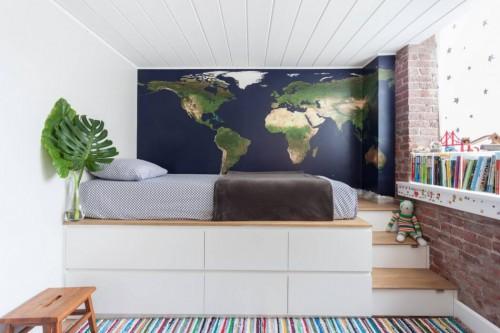 Leuke Kinderkamer Kast : Leuke kinderkamer van een loft uit new york slaapkamer ideeën