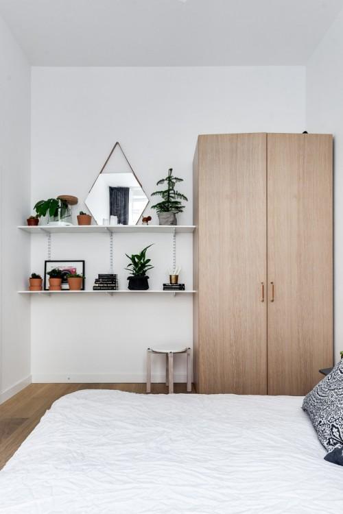 Leuke slaapkamer met leuke werkplek