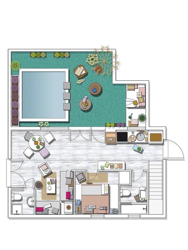 Leuke witte slaapkamer met beachlook