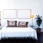 Loft slaapkamer achter gordijn