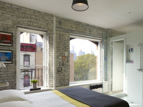 Loft slaapkamer in Chinatown New York