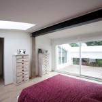 Loft slaapkamer met moderne gemakken