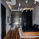 Loft slaapkamer met stoere details