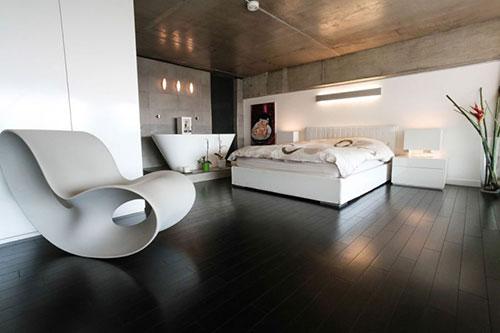 Loft slaapkamer met vrijstaand bad  Slaapkamer ideeën