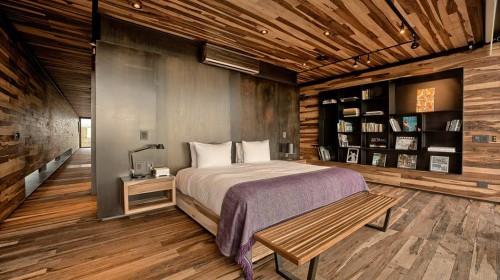 Loft slaapkamer van een vrijstaande villa