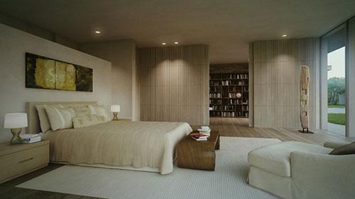 Luxe bungalow slaapkamer