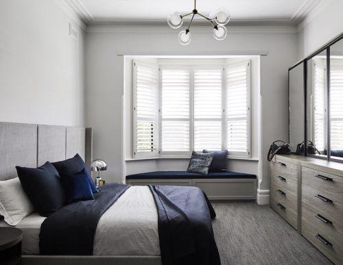 Luxe karakteristieke slaapkamer van het Elsternwick residence project