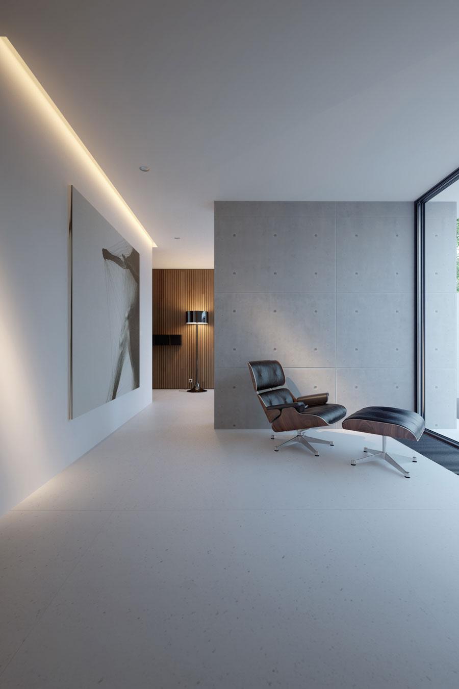 Luxe moderne slaapkamer van bungalow