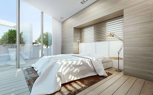 Luxe penthouse slaapkamer inspiratie