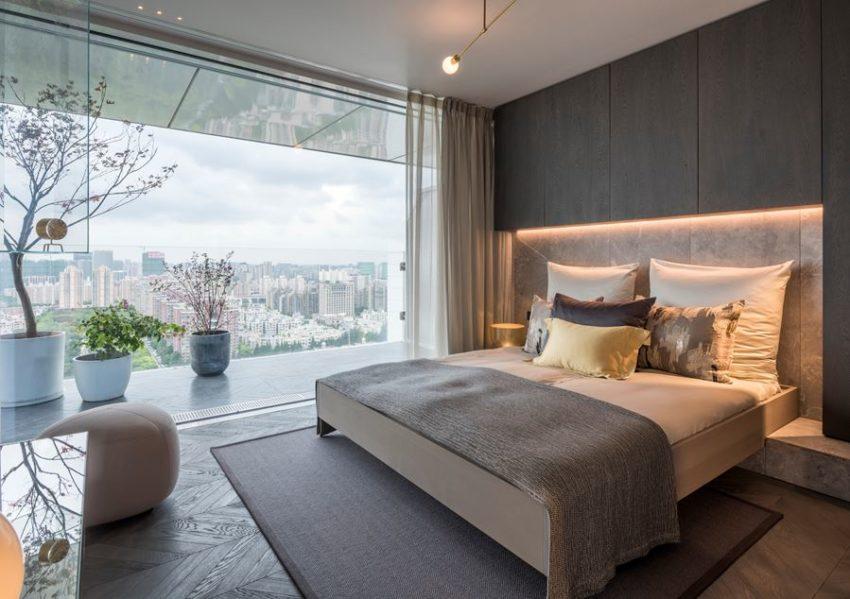 Luxe penthouse slaapkamer uit Putuo