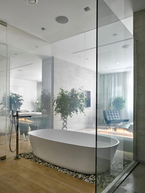 Luxe slaapkamer met moderne meubels  Slaapkamer ideeën