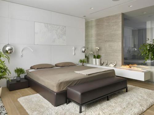Luxe slaapkamer met moderne meubels | Slaapkamer ideeën