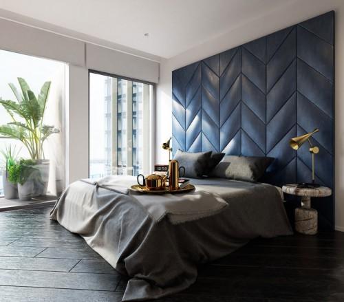 Kleuradvies Schouw : Houten achterwand slaapkamer eiken bed ...