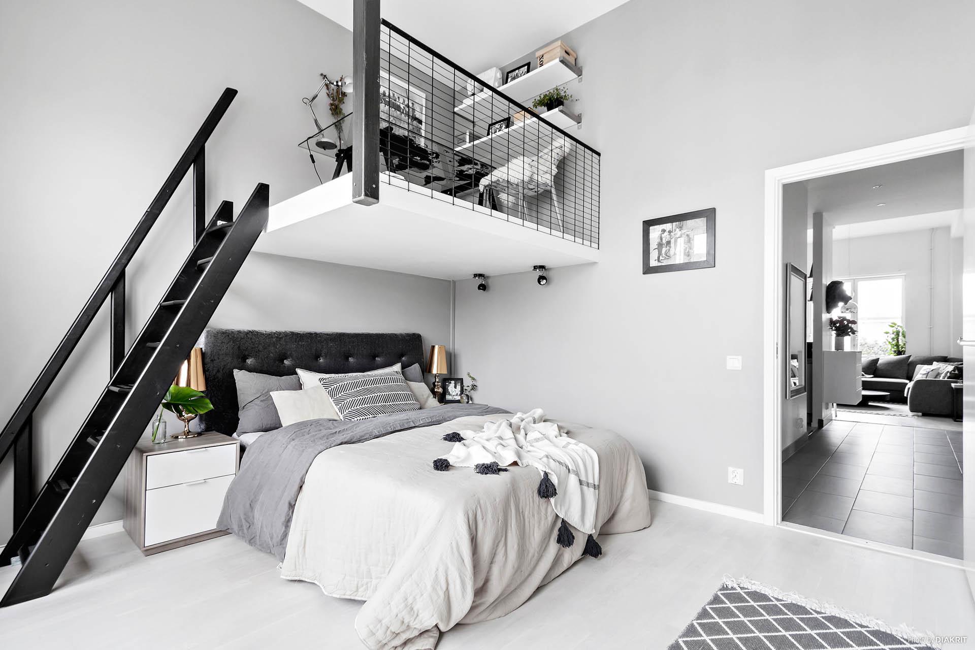 een mezzanine werkplek in slaapkamer slaapkamer idee n