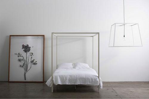 Minimalistische hemelbedden van Incy interiors